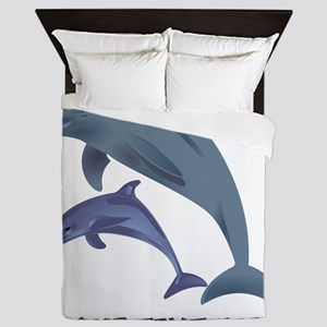 Dolphins Personalized Queen Duvet