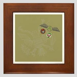 eagle tag Framed Tile