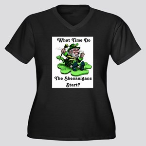 What Time Do The Shenanigans Start? Plus Size T-Sh