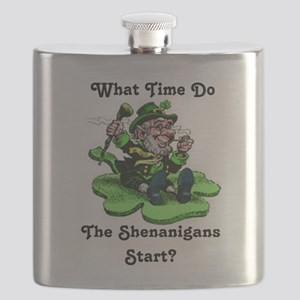 What Time Do The Shenanigans Start? Flask