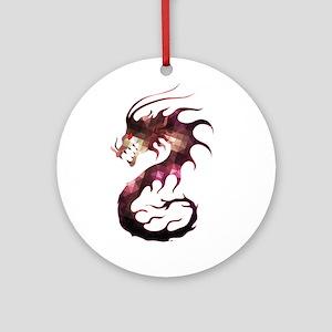 Crystal dragon Round Ornament
