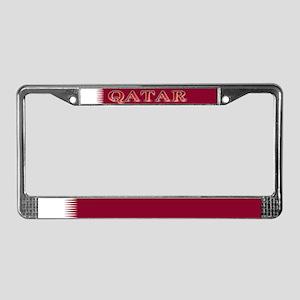 Qatar Qatari Blank Flag License Plate Frame