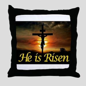 JESUS RISEN Throw Pillow