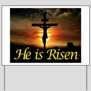 JESUS RISEN Yard Sign