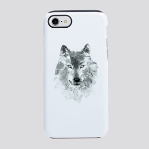 Watercolor Gray Wolf iPhone 8/7 Tough Case