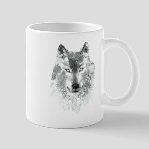 Watercolor Gray Wolf 11 oz Ceramic Mug
