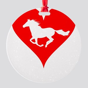 Love Horse Design Horse Lover Print Round Ornament