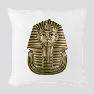 Golden King Tut Woven Throw Pillow