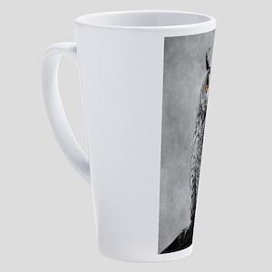 Long Eared Owl 17 oz Latte Mug