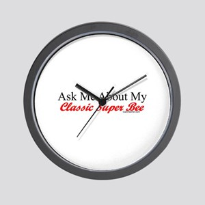 """""""Ask About My Super Bee"""" Wall Clock"""