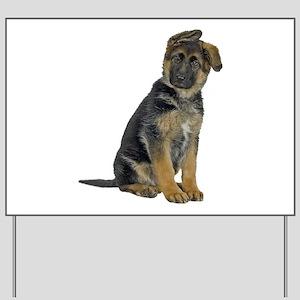 German Shepherd Puppy Yard Sign