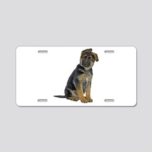 German Shepherd Puppy Aluminum License Plate