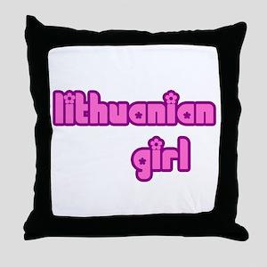 Lithuanian Girl Cute Throw Pillow