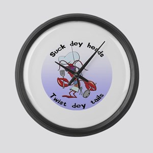 Cajun Crawfish Large Wall Clock