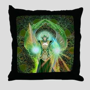 Angel Raphael Throw Pillow