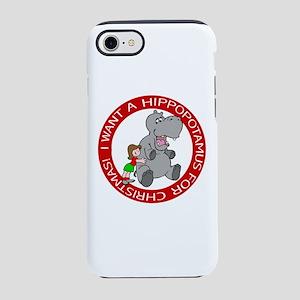 Hippopotamus for Christmas iPhone 8/7 Tough Case