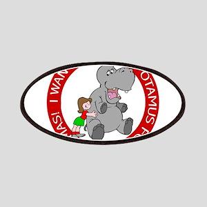 Hippopotamus for Christmas Patch