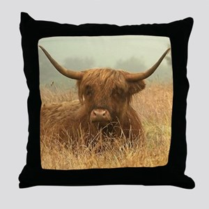 Highlands In The Mist Throw Pillow
