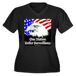 New Pledge Women's Plus Size V-Neck Dark T-Shirt
