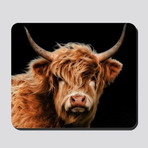 Highland Cow Portrait In Colour Mousepad