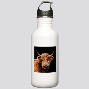 Highland Cow Portrait Stainless Water Bottle 1.0L