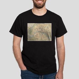 Vintage Map of Paris France (1890) T-Shirt