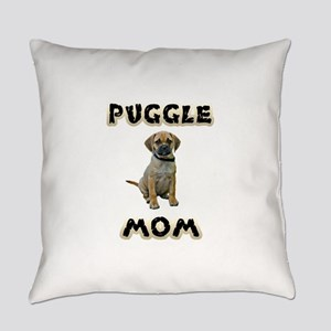Puggle Mom Everyday Pillow