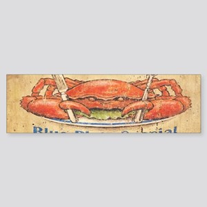 retro seafood restaurant crab Bumper Sticker