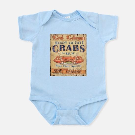 retro seafood restaurant crab Body Suit