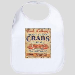 retro seafood restaurant crab Baby Bib
