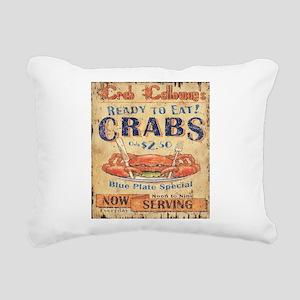 retro seafood restaurant Rectangular Canvas Pillow