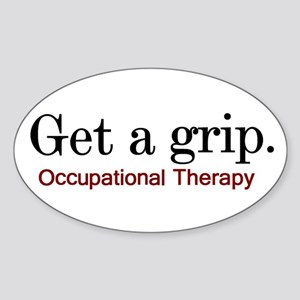 Get a grip. Oval Sticker