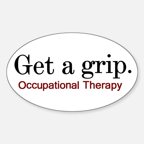 Get a grip. Oval Decal