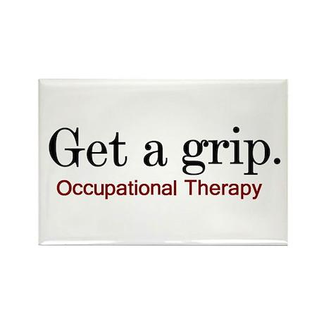 Get a grip. Rectangle Magnet