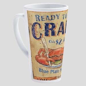 retro seafood restaurant crab 17 oz Latte Mug