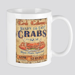 retro seafood restaurant crab Mugs