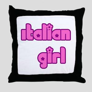 Italian Girl Cute Throw Pillow