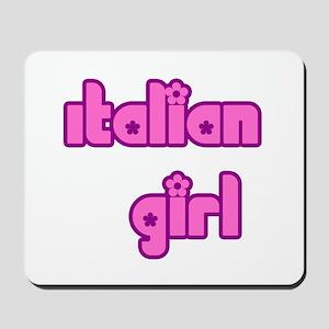 Italian Girl Cute Mousepad
