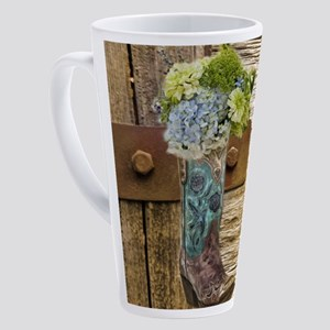 flower western country cowboy 17 oz Latte Mug