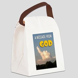 GOD'S MESSAGE Canvas Lunch Bag