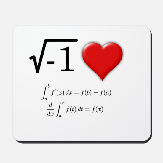 I Love Calculus Mousepad