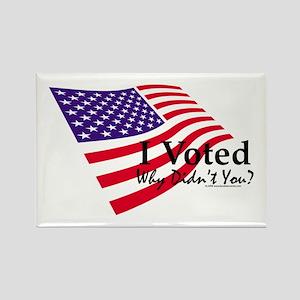 I Voted Rectangle Magnet