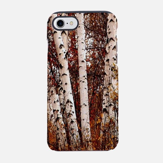 fall landscape birch tree iPhone 8/7 Tough Case