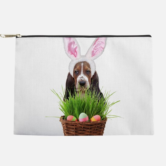Easter Basset Hound Makeup Bag