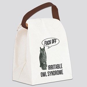 Irritable Owl Syndrome Canvas Lunch Bag