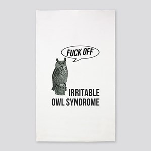 Irritable Owl Syndrome Area Rug