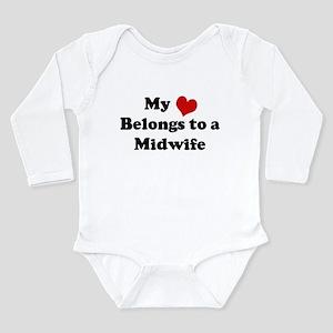 Heart Belongs: Midwife Infant Creeper Body Suit