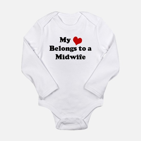 Heart Belongs: Midwife Infant Creeper Body Suit