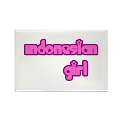 Indonesian Girl Cute Rectangle Magnet