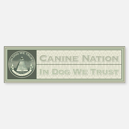 In Dog We Trust (Seal) Bumper Bumper Bumper Sticker